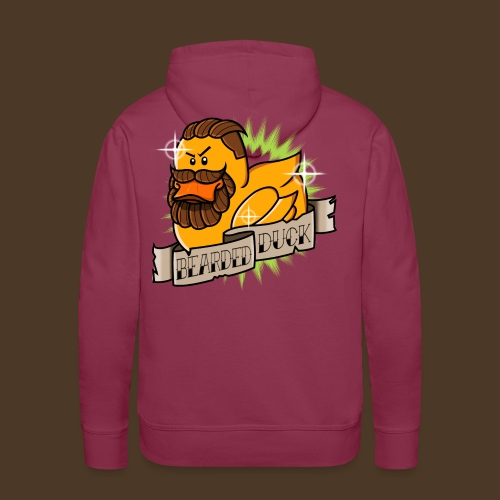 Bearded Duck - Sweat-shirt à capuche Premium pour hommes