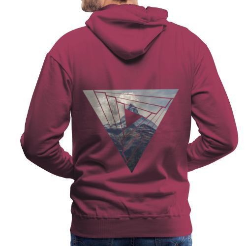Matterhorn Zermatt Dreieck Design - Männer Premium Hoodie