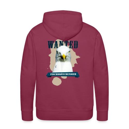 WANTED - Fischbrötchendieb - Männer Premium Hoodie