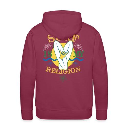 Surf-is-my-religion - Felpa con cappuccio premium da uomo