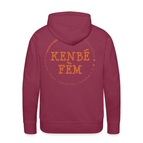 KenbeFem Back Orange png - Sweat-shirt à capuche Premium pour hommes