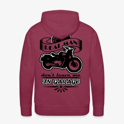 biker style - Felpa con cappuccio premium da uomo