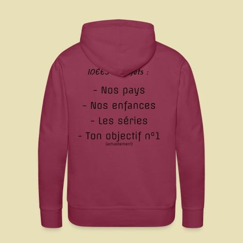 arrière, idées convo - Sweat-shirt à capuche Premium pour hommes