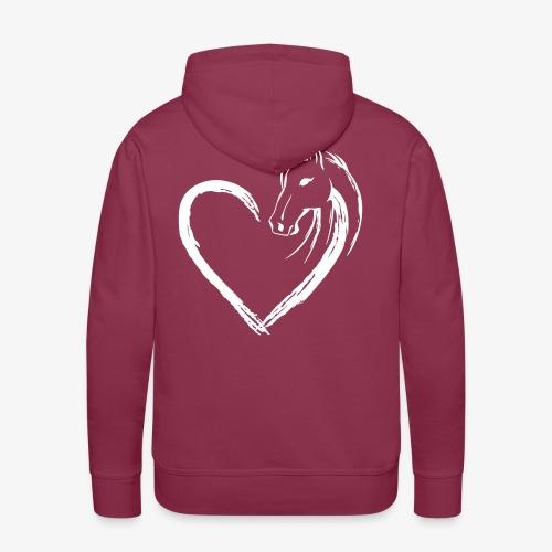 Vorschau: Pferde Herz - Männer Premium Hoodie