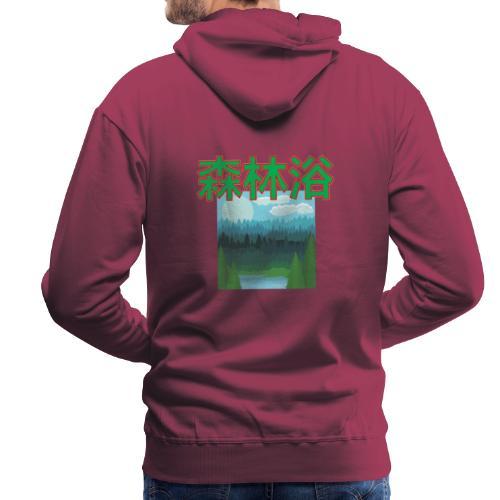Shinrin Yoku Forest bathing - Mannen Premium hoodie