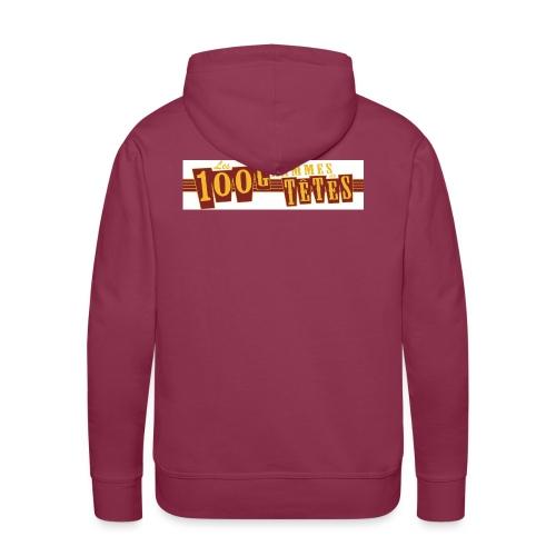 logo 100g de têtes copie jpg - Sweat-shirt à capuche Premium pour hommes