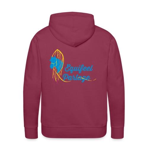 Logo marron - Tee-shirt V FEMME - Sweat-shirt à capuche Premium pour hommes