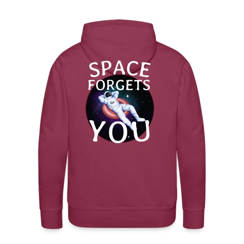 space forgets you - Herre Premium hættetrøje