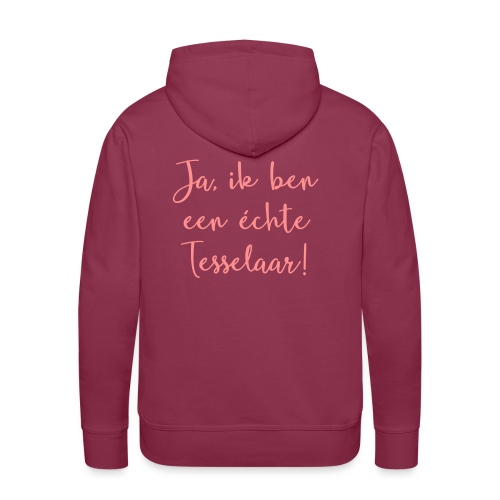 Ja, ik ben een échte Tesselaar - Mannen Premium hoodie