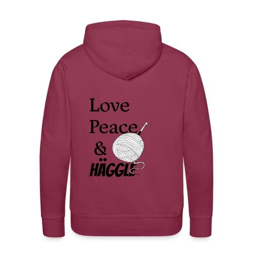 Love Peace & Häggle - Männer Premium Hoodie
