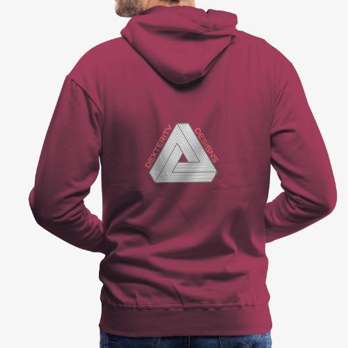 Modern Triangular Dexterity Logo - Men's Premium Hoodie