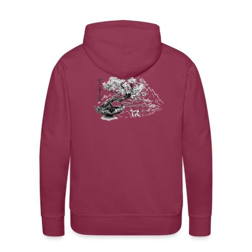 TempleKARATE TRANSP GIF - Sweat-shirt à capuche Premium pour hommes