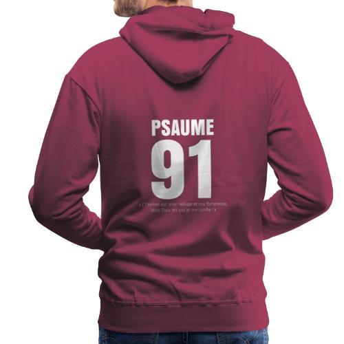 Psaume 91 eternel mon refuge en blanc - Sweat-shirt à capuche Premium pour hommes