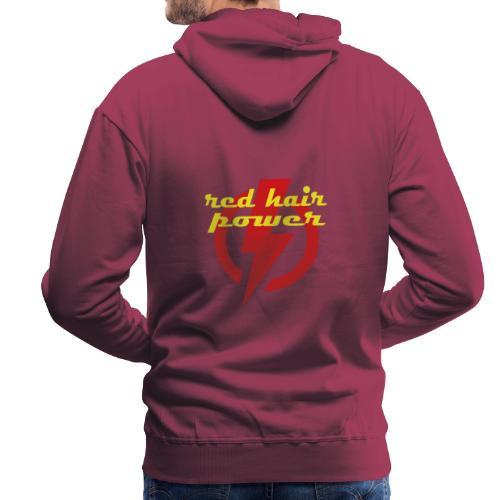 Red Hair Power, de kracht van rood haar - Mannen Premium hoodie