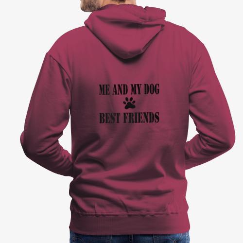 Me and my dog best friends - Mannen Premium hoodie