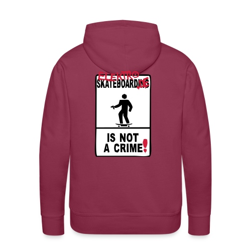 elektro-skateboard.de is not a crime - Männer Premium Hoodie