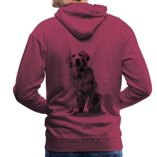 Golden Retriever - Hunde Geschenkidee - Männer Premium Hoodie