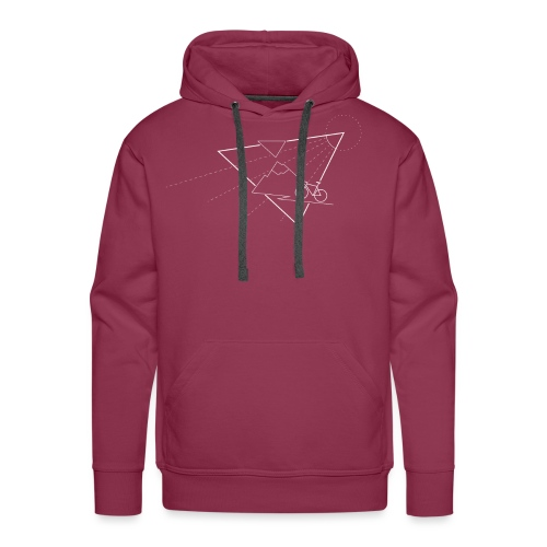 Cycling the mountains - Mannen Premium hoodie