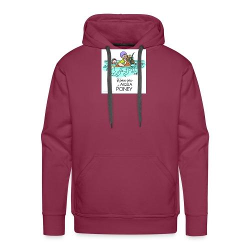 monde de nadoo aqua poney - Sweat-shirt à capuche Premium pour hommes
