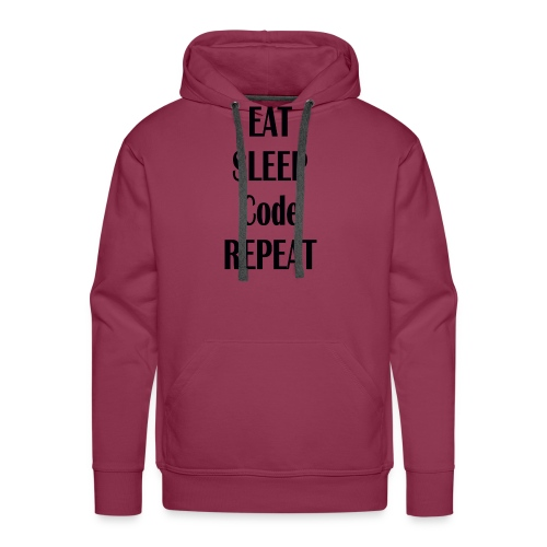 EAT SLEEP CODE REPEAT - Männer Premium Hoodie