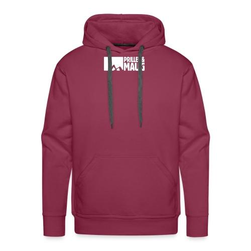 Priller&MAUG Logo WHT - Männer Premium Hoodie