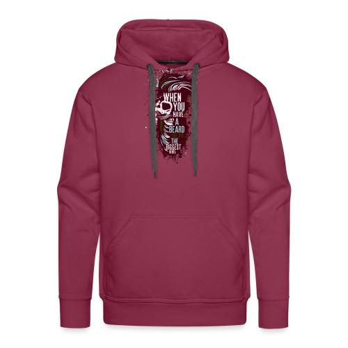 tete de mort crane hipster skull citation humour b - Sweat-shirt à capuche Premium pour hommes