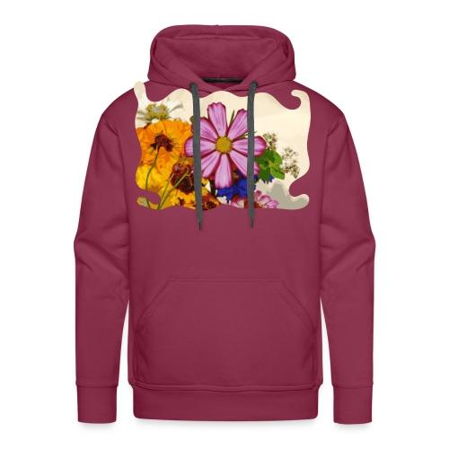 Pink flower - Mannen Premium hoodie