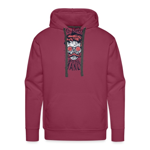 tete de mort crane hipster logo coiffure skull cit - Sweat-shirt à capuche Premium pour hommes
