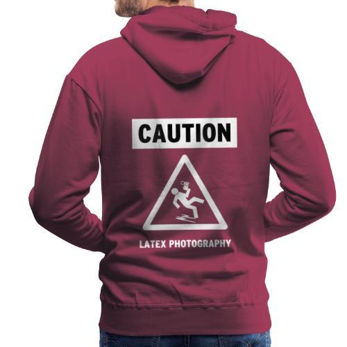 caution - Men's Premium Hoodie