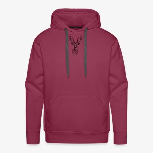 Ciervo geometrico - Sudadera con capucha premium para hombre