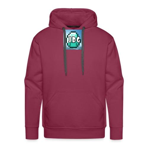 Oranje T-shirt met logo JoramDijkGames - Mannen Premium hoodie