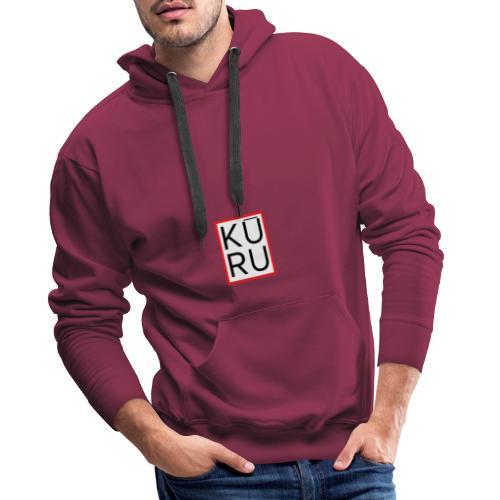 Logo Kuru - Sudadera con capucha premium para hombre
