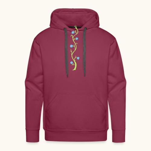 Blumenranke Farbe anpassbar Geschenk Muttertag - Sweat-shirt à capuche Premium pour hommes