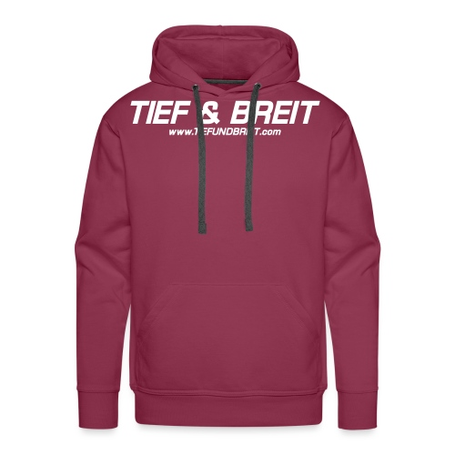 Tief & Breit Logo vector - Männer Premium Hoodie