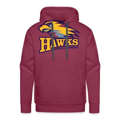 hawks main logo on white - Men's Premium Hoodie