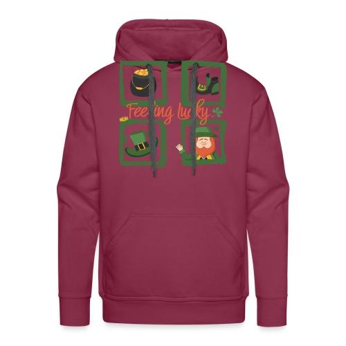 Be happy - feeling lucky St. Patricks day - Men's Premium Hoodie