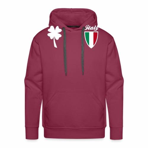 Italia Emblema sport 3C - Felpa con cappuccio premium da uomo