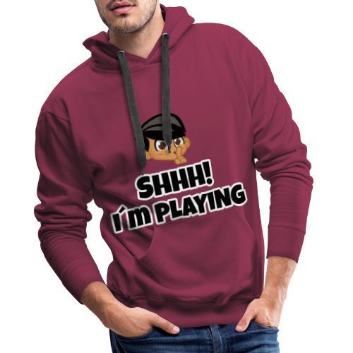 Shhh I'm Playing! Jay trivisk - Men's Premium Hoodie