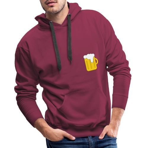Entspanntes Bier Logo - Männer Premium Hoodie