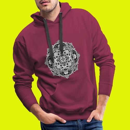 Mandala - Felpa con cappuccio premium da uomo