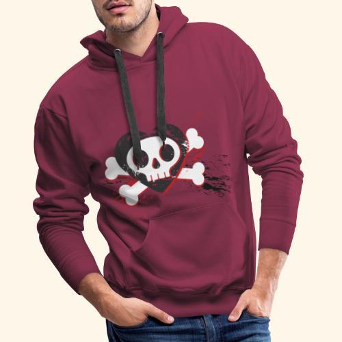Crane coeur - Sweat-shirt à capuche Premium pour hommes