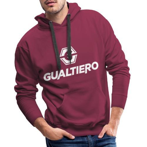 GUALTIERO LOGO WHITE - Mannen Premium hoodie