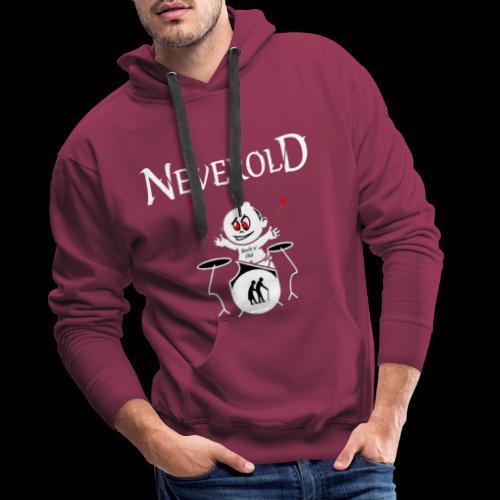LOGO NEVEROLD - Sweat-shirt à capuche Premium pour hommes