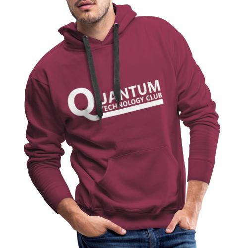 Quantum Tech logo (w) - Men's Premium Hoodie