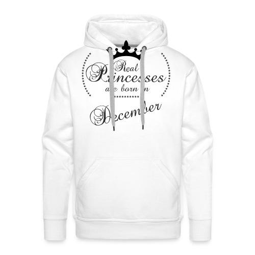 Real Princesses black December - Männer Premium Hoodie