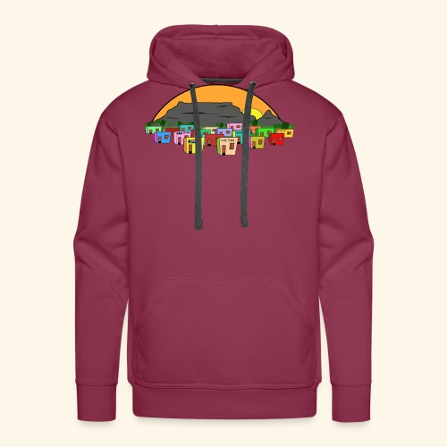 Cape Town Township Background - Männer Premium Hoodie