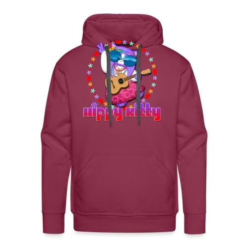 Hippy Kitty - Felpa con cappuccio premium da uomo