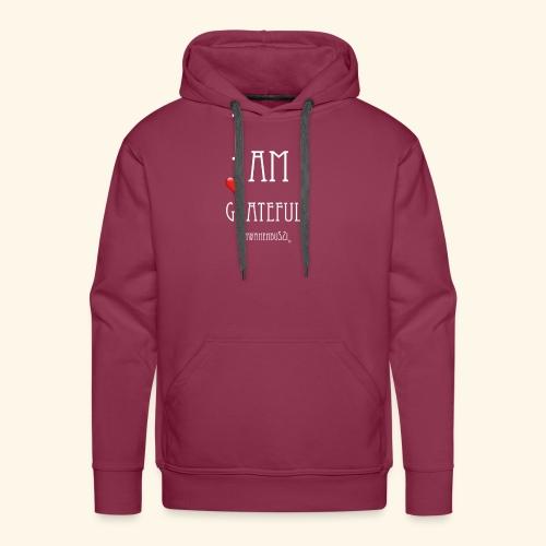 T Shirt Druck I am grateful Schwanenbussi weiss - Männer Premium Hoodie
