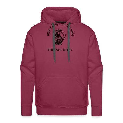 Keep calm I am the king - Sweat-shirt à capuche Premium pour hommes