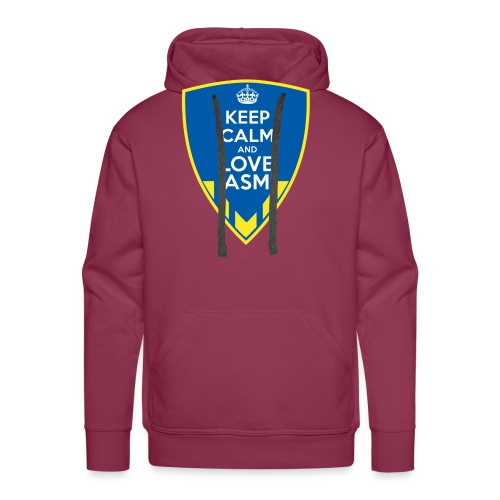 Blason Keep Calm And Love ASM - Sweat-shirt à capuche Premium pour hommes